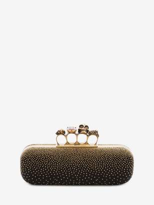 Alexander McQueen Studded Four Ring Clutch