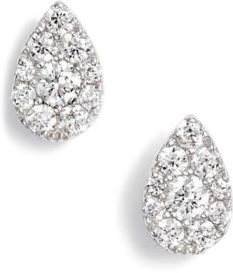 Bony Levy Diamond Pave Pear Stud Earrings