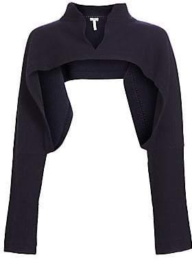 Loewe Women's Wool & Cashmere Polo Neck Bolero