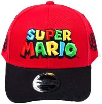 482b9ed8370 at Amazon Canada · Nintendo Official Super Mario Bros Logo Snapback Cap Hat  - Adjustable