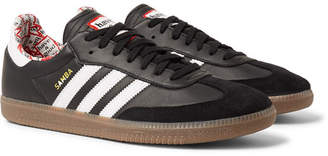 Have A Good Time adidas Consortium + Samba Suede-Trimmed Leather Sneakers