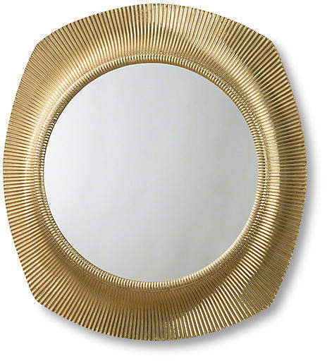 Fluted Mirror - Brass - Global Views