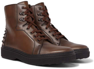 Tod's Leather Boots - Men - Brown