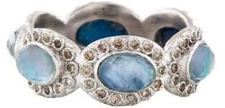 Armenta Mother of Pearl, Sapphire & Quartz Triplet Diamond Ring