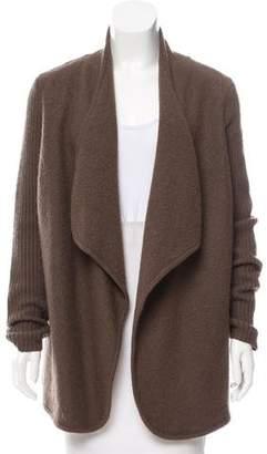 Vince Asymmetrical Wool Cardigan