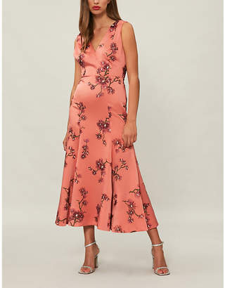 Erdem Honora floral-embroidered satin midi dress