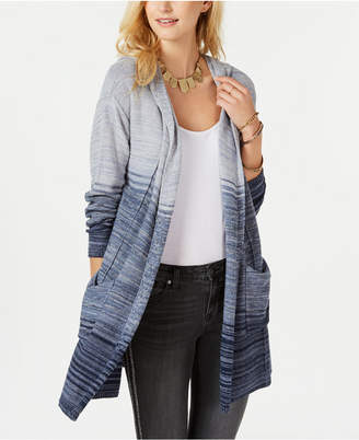 Style&Co. Style & Co Petite Printed Hooded Cardigan