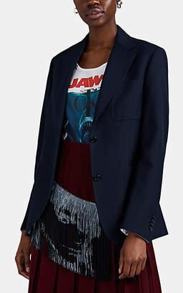 Calvin Klein Women's Gabardine Two-Button Oversized Blazer - Navy