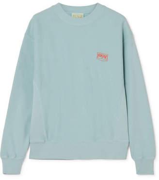 Aries Printed Cotton-jersey Sweatshirt - Light blue