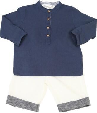 Cotton Linen Blend Shirt & Pants