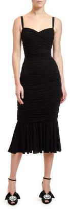 Dolce & Gabbana Ruched-Jersey Midi Dress