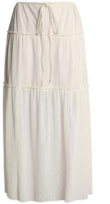 See by Chloe Ruffle-Trimmed Ribbed-Knit Maxi Skirt