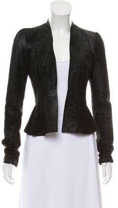 L'Agence Suede Open Front Jacket