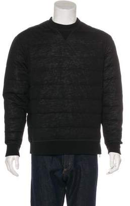 Moncler Wool Down Zip-Accented Sweatshirt w/ Tags