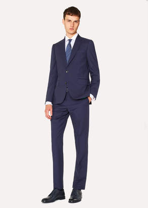 Paul Smith Men's Tailored-Fit Indigo Wool-Mohair Suit