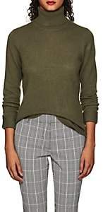 Barneys New York WOMEN'S CASHMERE TURTLENECK SWEATER - DK. GREEN SIZE M