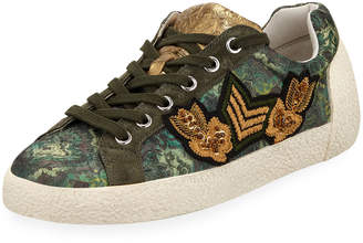 Ash Nak Army Embroidered Low-Top Sneakers
