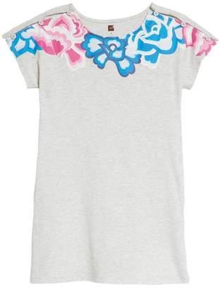 Tea Collection Button Shoulder T-Shirt Dress (Toddler Girls, Little Girls & Big Girls)