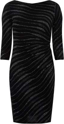 80312e24efa Dorothy Perkins Womens   Billie   Blossom Black Petite Zebra Print Bodycon  Dress