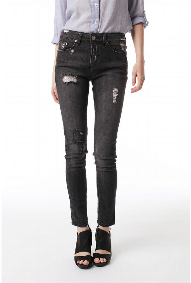 BDG High Rise Ankle Cigarette Jean - Charcoal
