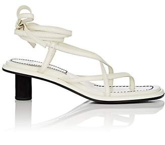 Proenza Schouler Women's Leather Ankle-Tie Sandals - White