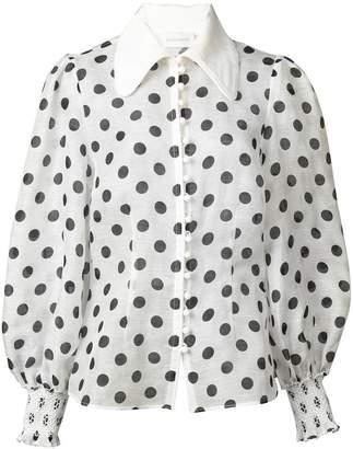 Zimmermann polka dot blouse