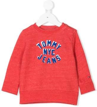 Tommy Hilfiger Junior logo embroidery sweatshirt