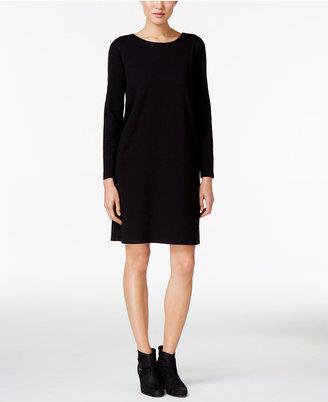 Eileen Fisher Organic Cotton-Blend Stretch Jersey Dress $138 thestylecure.com