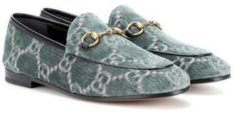 Gucci Jodaan printed velvet loafers