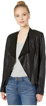 Blank NYC Faux Leather Collarless Jacket