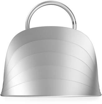 Millefoglie J Layered Top Handle Bag, Silver