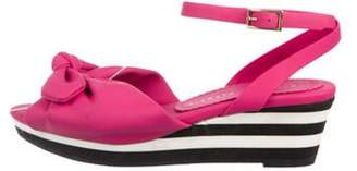 Charlotte Olympia Rubber Bow Wedges Magenta Rubber Bow Wedges