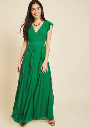 ModCloth Exquisite Epilogue Maxi Dress in Clover in XS $125 thestylecure.com