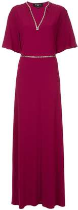 Paule Ka deep v-neck dress