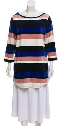 Marc by Marc Jacobs Velvet Long Sleeve Top