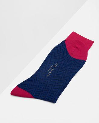 Herringbone dotted socks $29 thestylecure.com