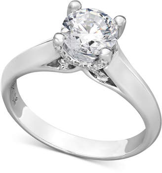 Macy's X3 Diamond Solitaire Engagement Ring in 18k White Gold (1-1/4 ct. t.w.), Created for