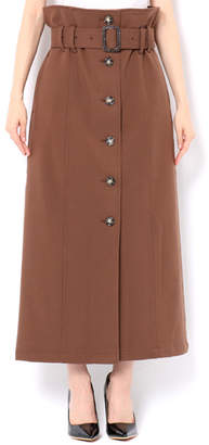 Moussy (マウジー) - マウジー FRONT BUTTON TR LONG SKIRT