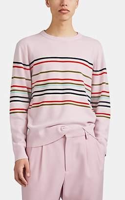 Sies Marjan Men's Striped Wool-Cashmere Crewneck Sweater - Rose