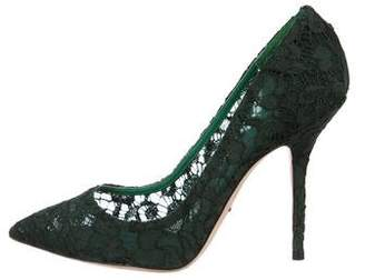 Dolce & Gabbana Lace Pointed-Toe Pumps