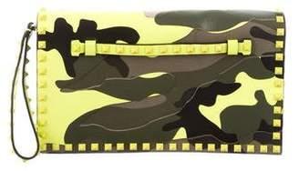 Valentino Camouflage Rockstud Wristlet