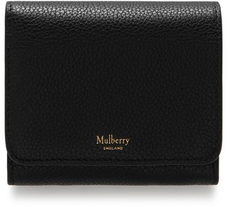 698cce6e3985 Mulberry Small Continental French Purse Black Small Classic Grain