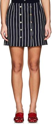 Thom Browne Women's Striped Wool-Cotton Sailor Miniskirt