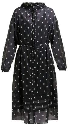 Araks Uppsala Polka Dot Cotton Shirtdress - Womens - Black Multi