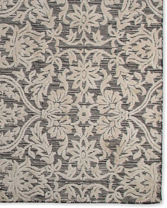 Mackenzie Childs Ivory Scroll Rug, 2' x 6' x 8' Runner