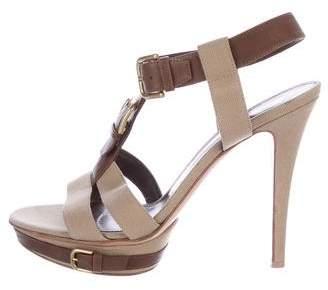 Gianvito Rossi Woven Platform Sandals