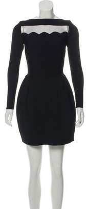 Valentino Sheer-Accented Knit Dress