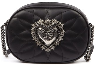 Dolce & Gabbana Black Matelasse Leather Devotion Shoulder Bag