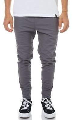 Zanerobe New Men's Sharpshot Mens Chino Pant Cotton Elastane Grey