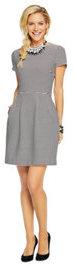 Stripe Crewneck Pleated Skirt Dress
